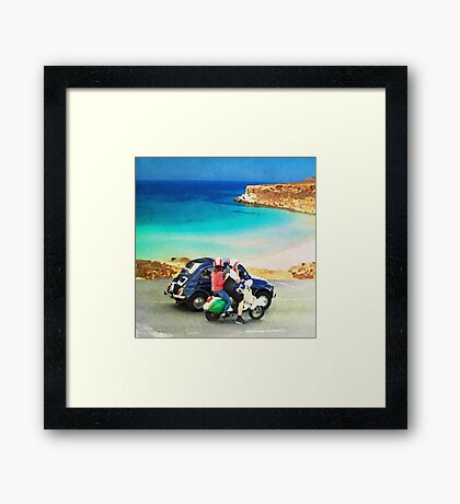Italian lifestyle watercolor painting Framed Print