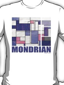 Mondrian Pink Purple White  T-Shirt