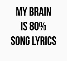 My Brain Is 80 Song Lyrics Women's Fitted Scoop T-Shirt