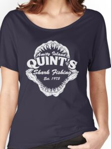Quints Shark Fishing Amity Island - Jaws Funny 70s Movie Women's Relaxed Fit T-Shirt