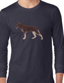 German Shepherd: Liver & Tan Long Sleeve T-Shirt