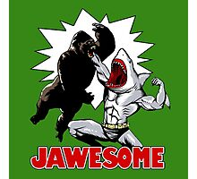 Jawsome vs gorilla Photographic Print