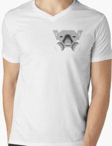 Grey Face Mens V-Neck T-Shirt