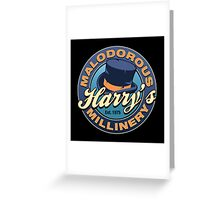 Harry's Malodorous Millinery Greeting Card