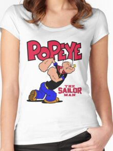 Popeye The Sailor Man Women's Fitted Scoop T-Shirt