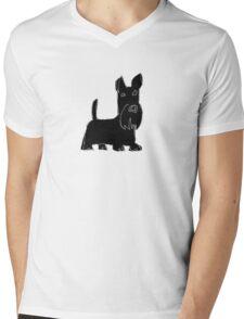Scottish Terrier Mens V-Neck T-Shirt