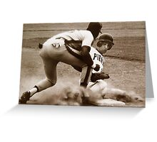 Sliding Into 3rd... Greeting Card