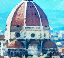 Watercolor painting of Florence Italy Sticker