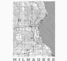 Milwaukee Map Line Unisex T-Shirt