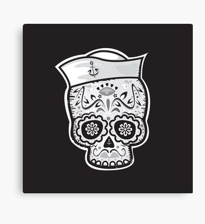 Marinero muerto sugar skull Canvas Print