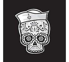 Marinero muerto sugar skull Photographic Print