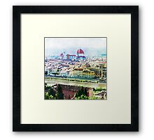 Watercolor painting of Florence Italy Framed Print