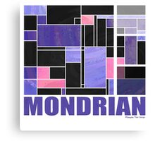 Mondrian Purple Pink Black  Canvas Print
