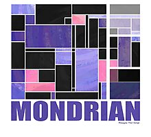 Mondrian Purple Pink Black  Photographic Print