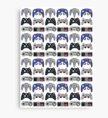 Console Gamer Leggings Pattern Canvas Print