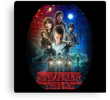 Stranger Things Netflix Canvas Print