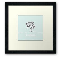 Love sharks/Great white buddy Framed Print
