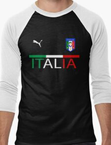 Euro 2016 Football Team Italy Men's Baseball ¾ T-Shirt