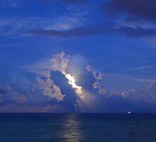 Moon Shine on a Blue Moon Sticker