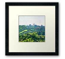 Tuscany idyllic landscape - watercolor painting Framed Print