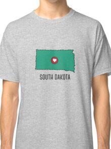 South Dakota State Heart Classic T-Shirt