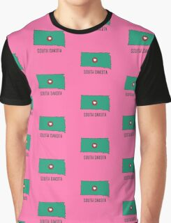 South Dakota State Heart Graphic T-Shirt
