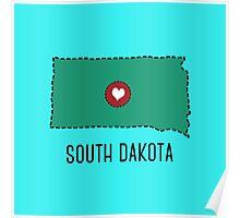 South Dakota State Heart Poster