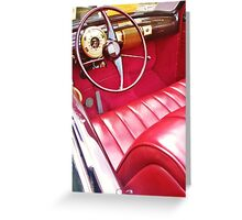 red interior, car show Greeting Card