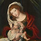 Jan Gossaert, called Mabuse, follower of, Madonna and Child by MotionAge Media
