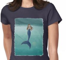 Mysterious Mermaid  Womens Fitted T-Shirt