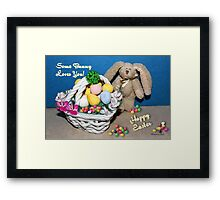 Some Bunny Loves You ~ So Much! Framed Print