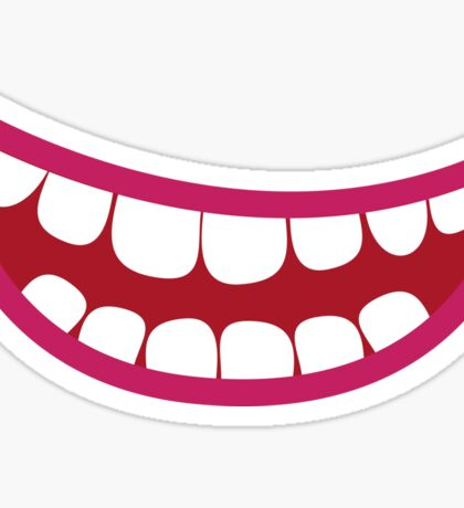A toothy smile grin Sticker