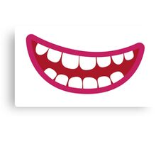 A toothy smile grin Canvas Print
