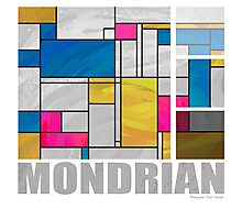 Mondrian Yellow Pink Blue  Photographic Print