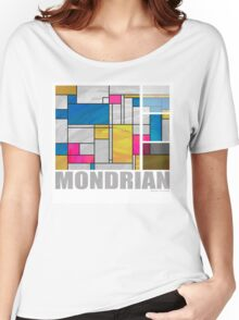 Mondrian Yellow Pink Blue  Women's Relaxed Fit T-Shirt