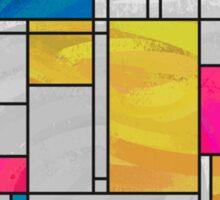 Mondrian Yellow Pink Blue  Sticker