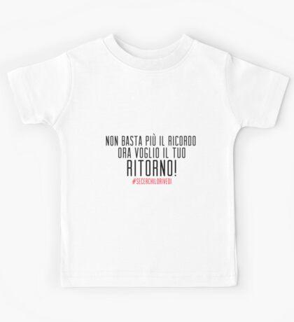 NON BASTA PIU' IL RICORDO Kids Tee