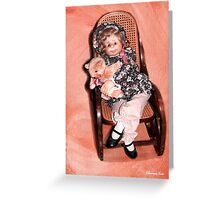 Handmade Doll in an Antique Rocker Greeting Card