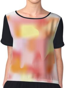 Watercolor blot of pink and orange on a white background Women's Chiffon Top
