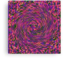 BEING SUCKED INTO A TIME AND SPACE WHIRLPOOL IN THE ELEVENTH UNIVERSE Canvas Print
