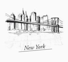 Retro New York One Piece - Short Sleeve