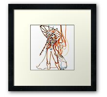 Umbrella Samurai Woman Framed Print