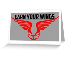 Earn Your Wings - RED RING Greeting Card