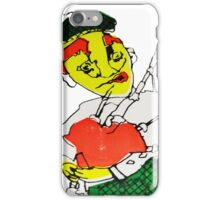 Satire of a Scotsman Puppet  Screen Print  iPhone Case/Skin