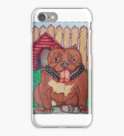 Happy Pit Bull iPhone Case/Skin