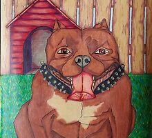 Happy Pit Bull by KenHadad