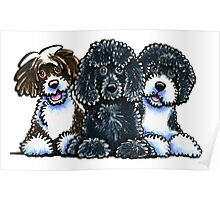 Three Water Dogs Poster