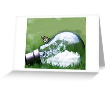 Light Bulb Butterfly Greeting Card