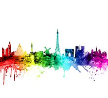 Paris France Skyline Photographic Print