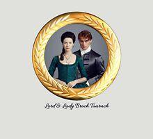 Lord & Lady Broch Tuarach Gold frame. Unisex T-Shirt